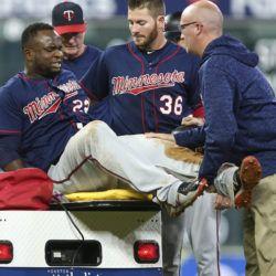 Mellizos confían que lesión de Sanó en la pierna izquierda no es grave