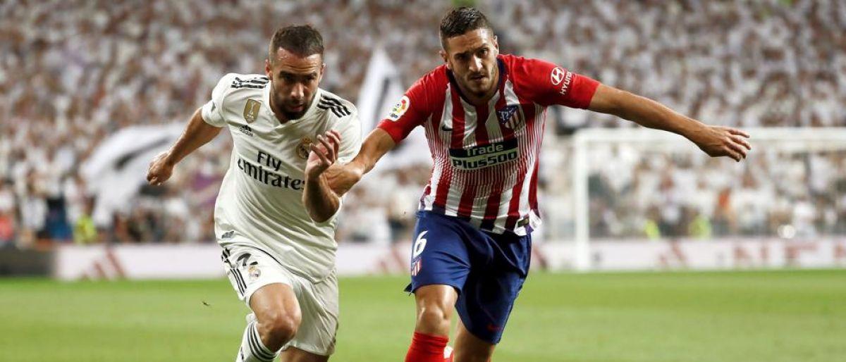 Carvajal ironiza con el empate del Atlético en el Bernabéu