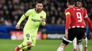 Messi lleva al Barcelona a triunfo sobre PSV en 'Champions'