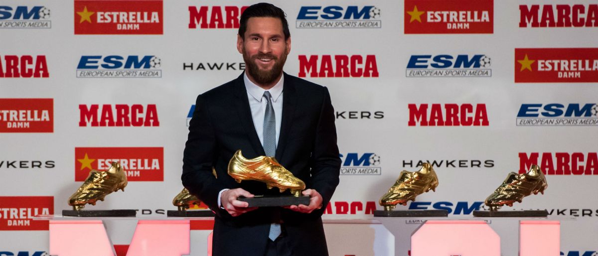 Messi recibe su 5ta Bota de Oro a máximo goleador en Europa