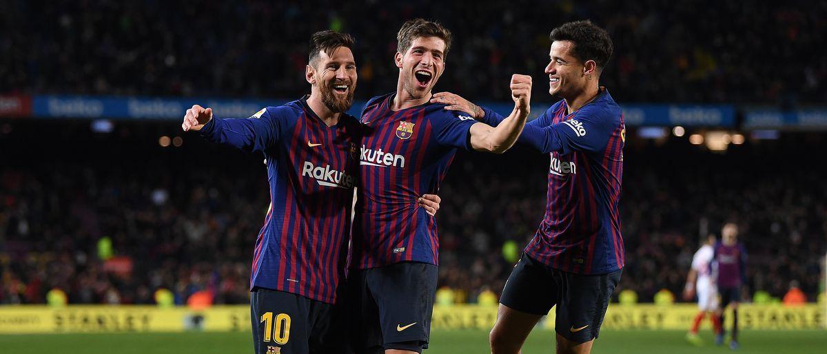 Barcelona arrasa al Sevilla y sigue vivo en la Copa del Rey
