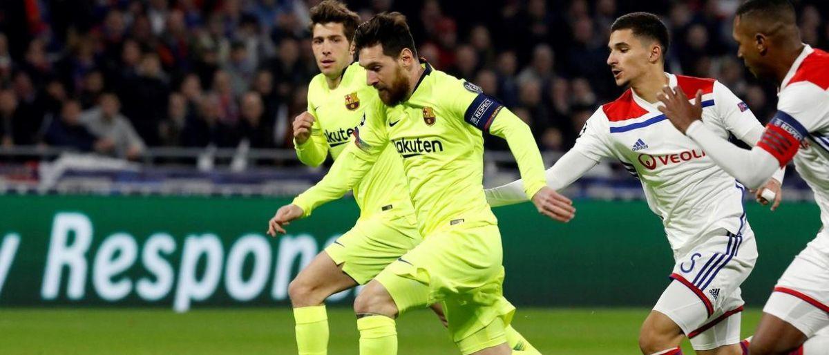 El ataque del Barcelona se atora en Lyon