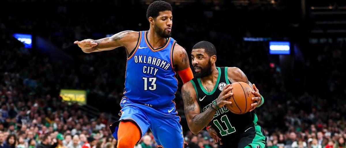 Irving comanda ofensiva de los Celtics que superaron 134-129 al Thunder