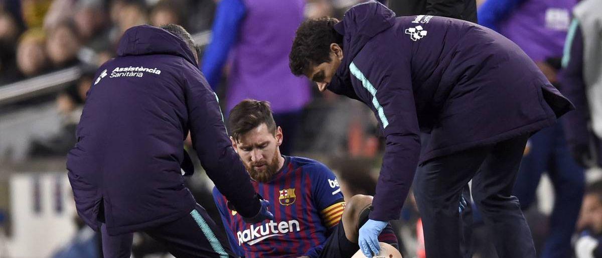Messi en duda para el primero de tres choques Barsa-Madrid