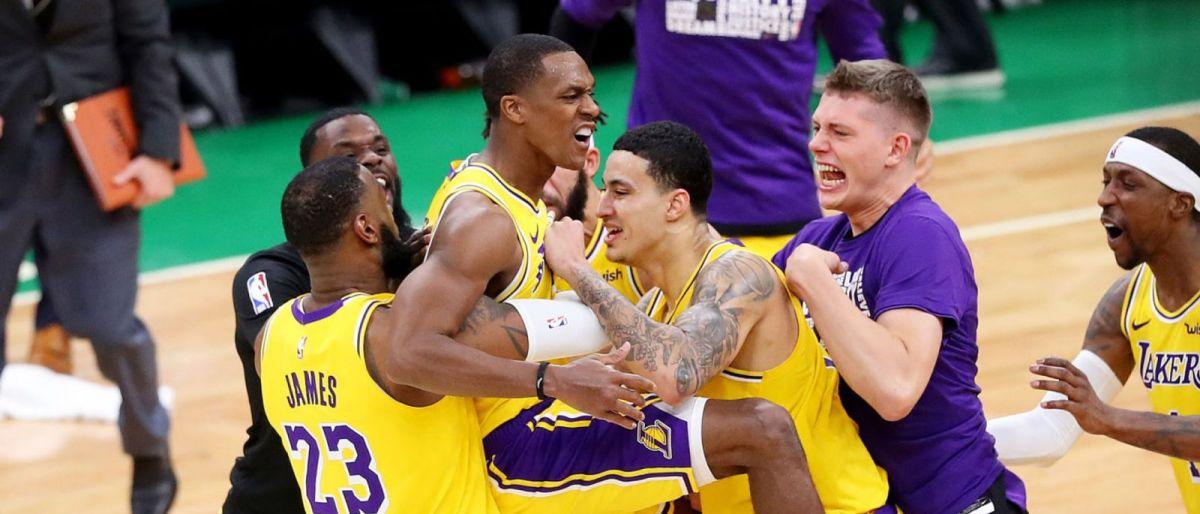 Rondo encesta canasta crucial y Lakers vencen 129-128 a Celtics