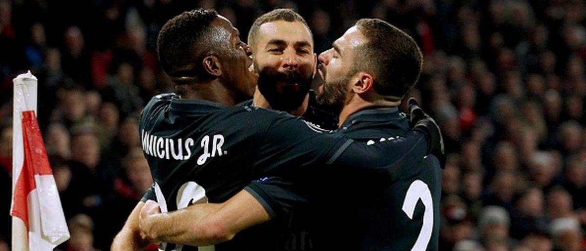 Vinicius, Asensio y el VAR salvan al Madrid en Ámsterdam