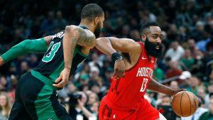 Harden anota 42 puntos y Rockets vencen 115-104 a Celtics
