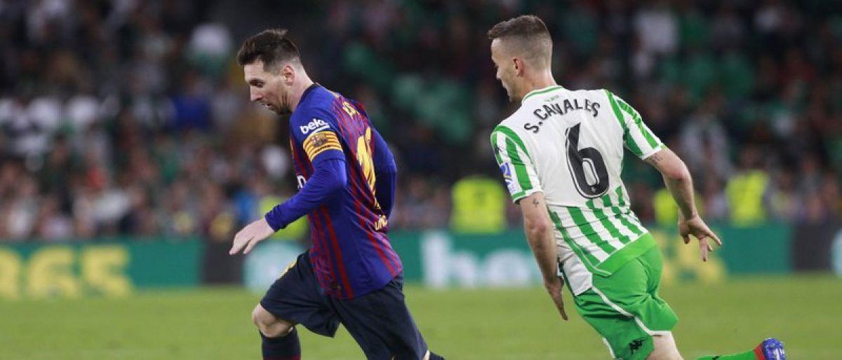 Messi brilla con triplete en victoria del Barsa sobre Betis