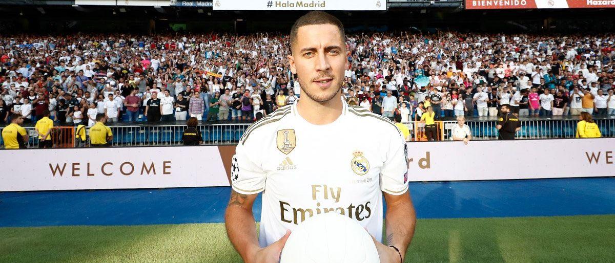 Hazard es presentado ante miles de aficionados del Madrid