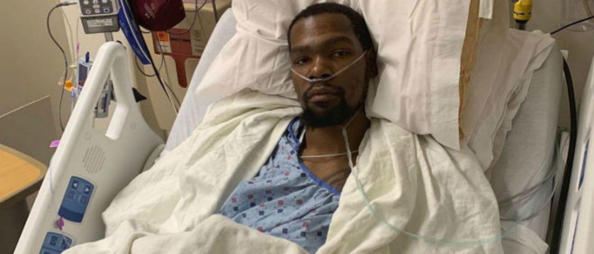 KD se rompió el tendón de Aquiles y fue operado