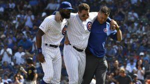 Cubs: Rizzo sale de juego tras torcerse el tobillo