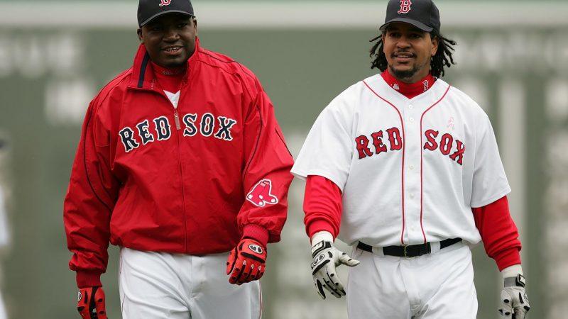 Big Papi y Manny al Salón de los Medias Rojas